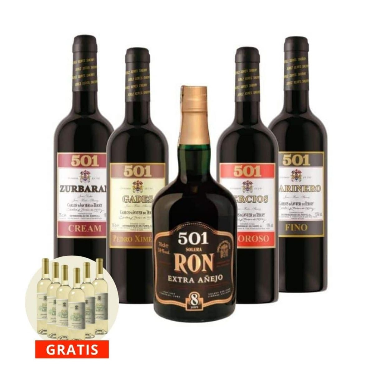 Pack vinos 501 mas ron añejo